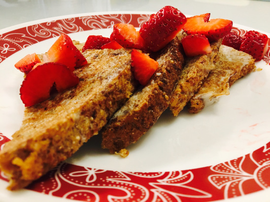 Healthy French Toast with Strawberries